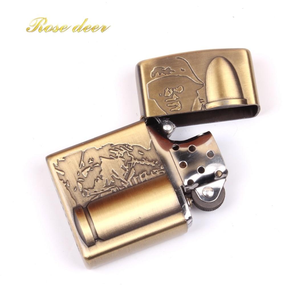 Classic Kerosene Black Mirror Vintage Style Lighter Flying Dragon Cigarette Lighter Oil Metal Smooth Grinding Wheel Gift for Man|Cigarette Accessories| |  - title=