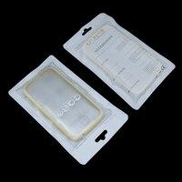 Tampa da Caixa Do Telefone móvel Fosco Branco Plástico Zip Lock Poli Embalagem do Pacote Saco de armazenamento para o iphone 7 6 5 5S 6 s Galaxy s6 s7