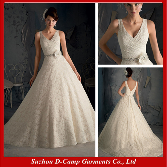 Free Shipping Wd 1811 Poetic Lace A Line Wedding Dress Spaghetti