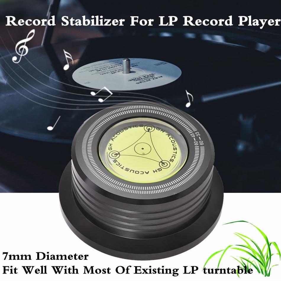 60Hz Platine Tourne-Disque À Disque Stabilisateur Clamp Avec Niveau À Bulle Pour LP Vinyle Tourne-disque Stabilisation Vitesse De Rotation