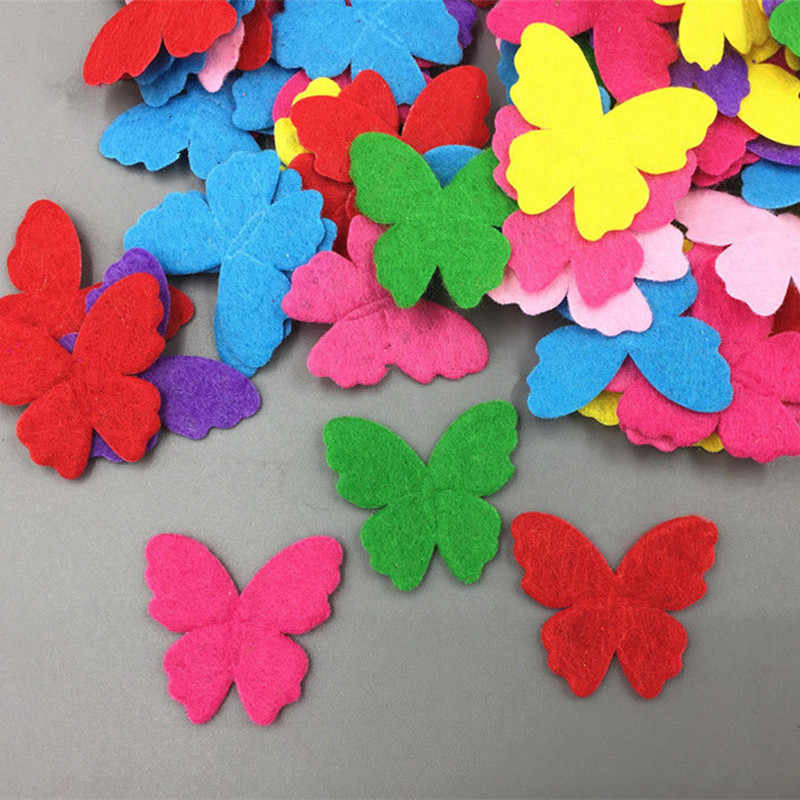 1000X Mini Felt flower Mixed Colors Appliques diy Cardmaking decoration 13mm