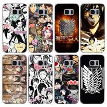 Attack On Titan Transparent Hard PC Case Cover For Samsung Galaxy