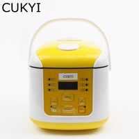 CUKYI 350W Mini Rice cooker 2L for 4 5 person Multifunctional Yogurt cake porridge soup rice cooking device Full automatic
