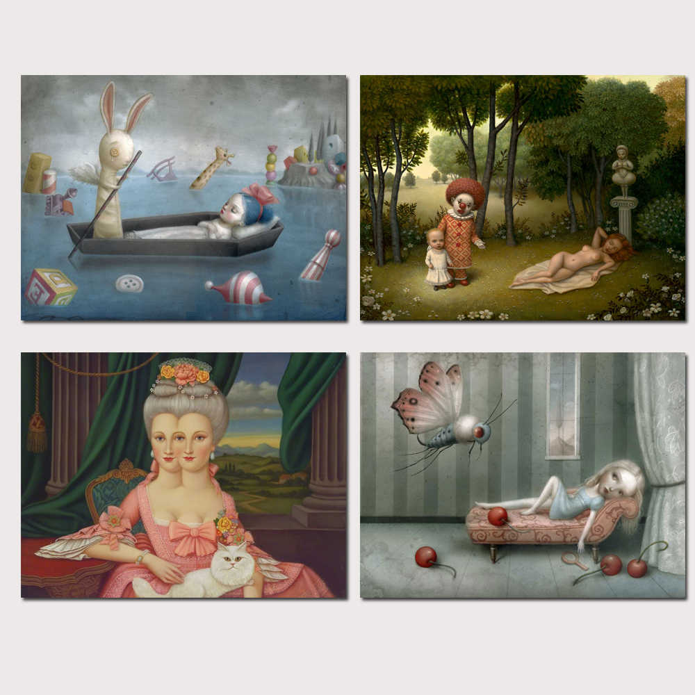Mark Ryden Mark Ryde 1 Panel Abstract Wall Art Oil Painting Poster Canvas Painting Print for Living Room Home Decor 18