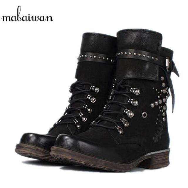 A. S. 36 98 Botines Talla D 36 S. Negro Botas mujer Zapatos NUEVO remaches cuero c19406