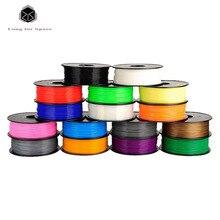 High Quality 20 Colors 3D Printer Filament PLA 1.75mm/3mm Plastic Rubber Consumables Material 1Kg PLA/ABS For 3D Pen