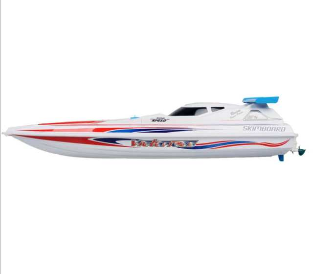 Us 143 5 18 Off Top Sale Remote Control Boat Hq948 65cm 40km H Double Motor Rc Jet Electric Powered Engine High Speed Speedboat Boat Water Toy In Rc