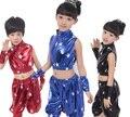 De los niños del Salón de baile Moderno Jazz Trajes de Baile Hip Hop Fijados para Los Muchachos Ropa Competencia Desgaste Ropa Tops Pantalones Trajes de Danza