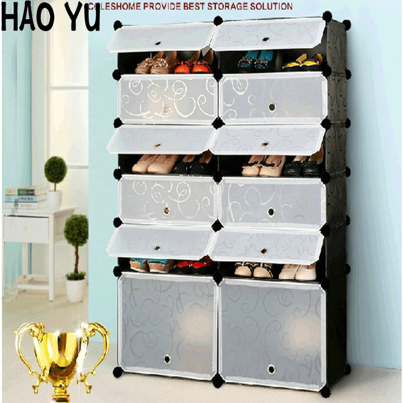 Simple DIY Shoe Rack Creative Modern Multi Purpose Shoe Cabinet