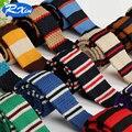 Nuevo 2016 Moda 5 cm Franja Masculina conjunto Marca Diseñador Delgado de Punto Cravate Corbata Flaca Estrecha Corbatas Corbatas Para hombres