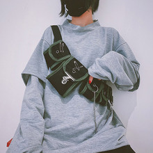 Сумки для женщин унисекс многофункциональные холщовые сумки через плечо для женщин несколько карманов нагрудная сумка для телефона женская сумка