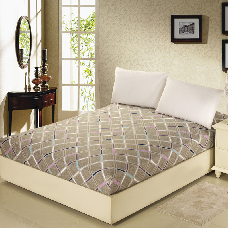 100% Cotton Printing Mattress Protective Cover Anti-dirty Removable Bed bug Fitted Sheet Mattress Cover Prevent Hypoallergenic ...