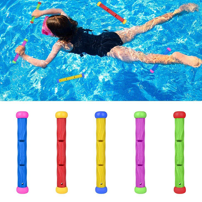 5 PCS Diving Toys Sticks Kids Swimming Pool Training For Sea Use Adult Party Favors