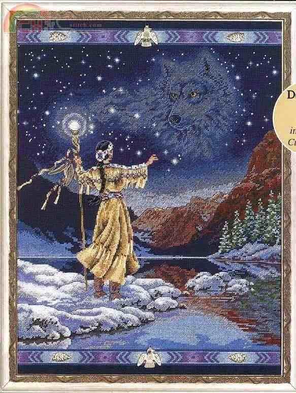 1одежда высшего качества Красивые Счетный крест комплект припаяны духи ДУХ волк Орел Звездная ночь озеро dim 7254