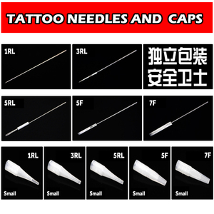 Image 2 - 100pcs 1RL/3RL/5RL/5F/7F Sterilized Disposable Permanent Makeup Needles Tattoo Needles for Eyebrow Tattoo Makeup Kits 0.35X50MM