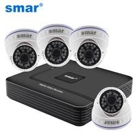Home Security CCTV Camera System Standalone Kit 4 Channel CCTV HVR DVR NVR AHD DVR 4pcs