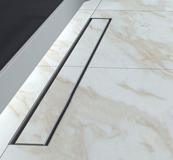 80cm Stainless Steel Linear Shower Drain 800mm shower drain channel shower floor drain gate drain DR128