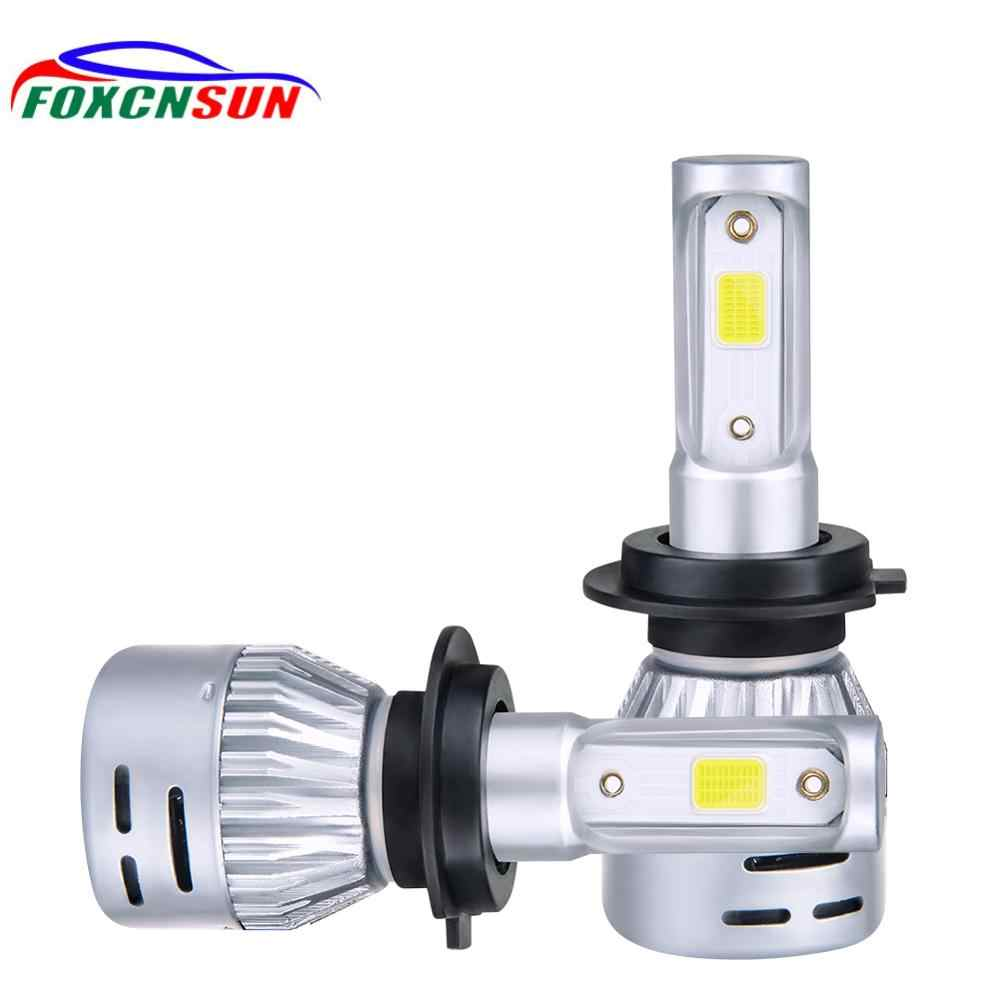 2PCS 72W 8000LM 4300k H4 H1 H3 Turbo LED Car Headlight H7 H8 H9 H11 H27/880/881 9005 HB3 9006 HB4 9007 12V Led Fog Light Bulb