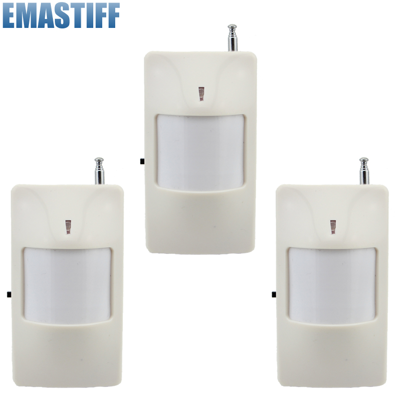 3pcs/lot 433Mhz Wireless PIR Sensor Motion Detector For Wireless GSM/PSTN Auto Dial Home Security Alarm System no battery wireless vibration break breakage glass sensor detector 433mhz for alarm system