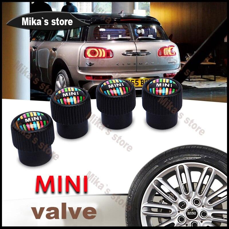 New For Mini Cooper car tire valve stem caps Union Jack Countryman clubman cabrio pacema ...