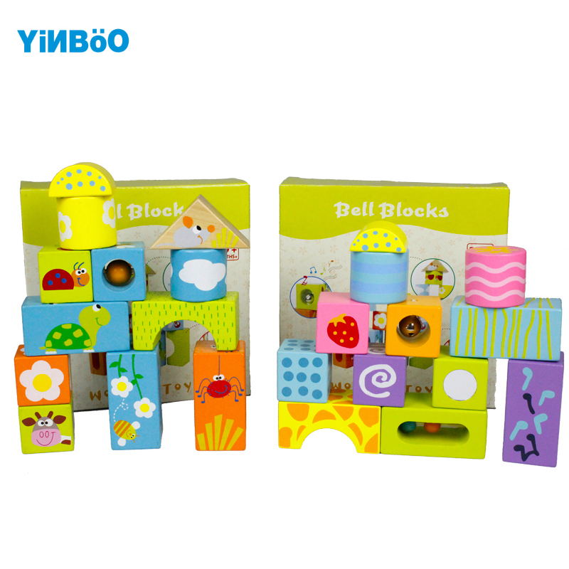 Baby toys wooden block 12 pcs models & building toy for children montessori education animal & shape for kids gift sound 26pcs wooden fun big building block with animal brand top bright high quality for baby kid toy gift boy brinquedo menina tp048