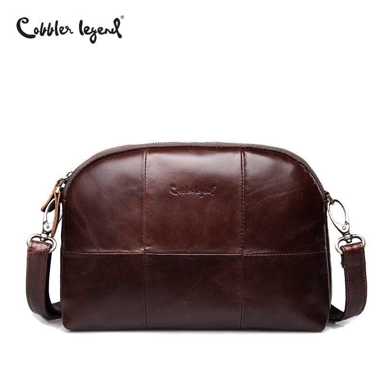 Cobbler Legend 2018 Messenger Bag for Women Genuine Leather Solid Famous Designer Small Shoulder Shell Bag Travel Female Clutch cobbler legend 2015 messenger 100