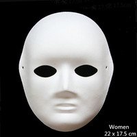 Fun Unpainted White Paper Various for Women Men DIY Paint   Party     Mask   Christmas Halloween Navidad