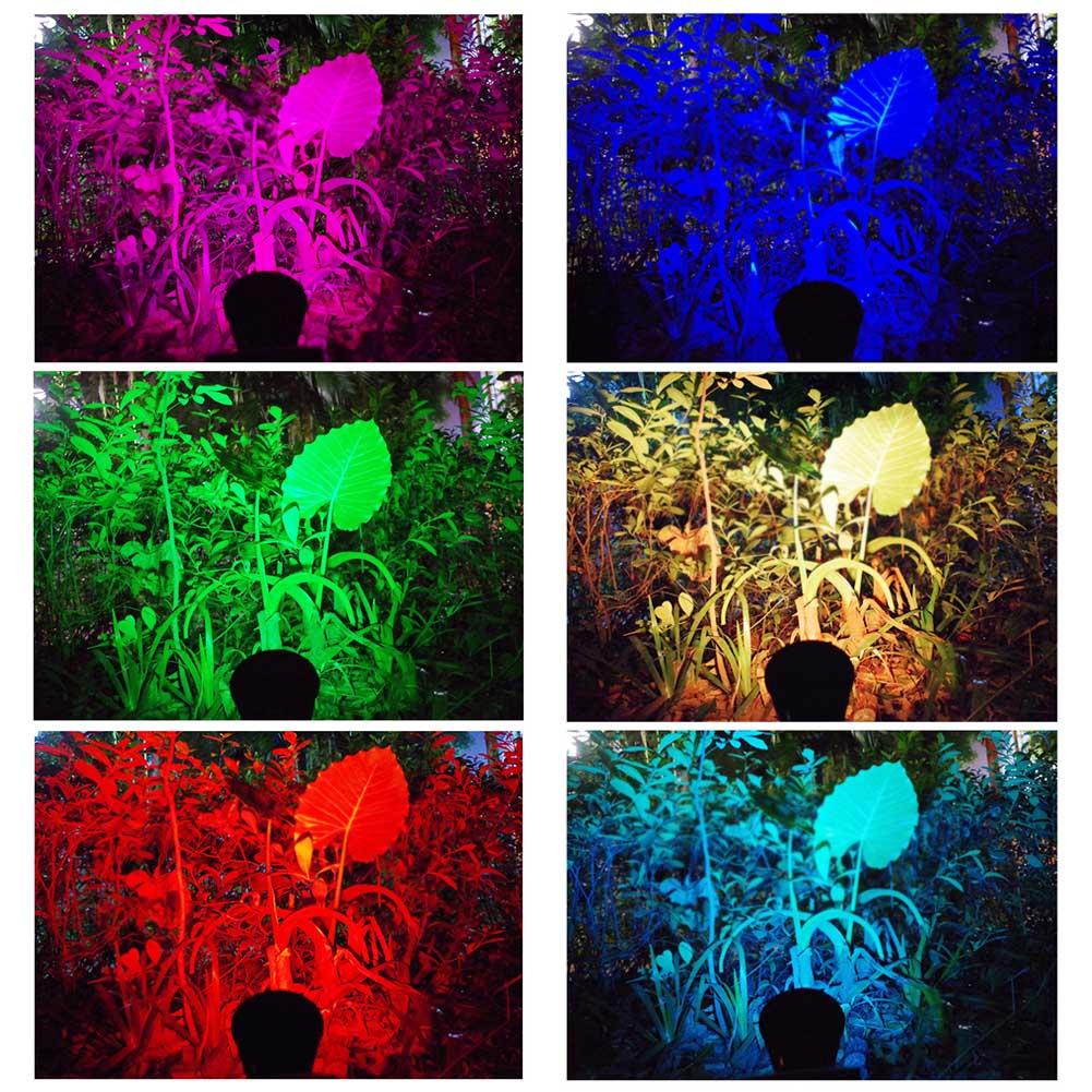 lampada projetor ponto ajustavel para jardim ao 03