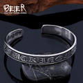 Beier new store 316L Stainless Steel Bangles The six syllable Mantra Bangles luckly for men/women fashion jewelry   BRG-009