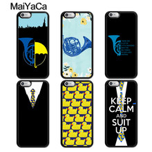MaiYaCa HIMYM Blauw Franse Hoorn Eend Tie Telefoon Case Voor iphone 11 Pro MAX X XR XS MAX 6 6S 7 8 Plus 5 5S TPU Cover Fundas(China)