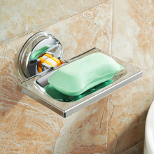 Soap Holder Suction Cup Stainless Steel Soaps Dish Basket for Bathroom Shower Kitchen JDH99