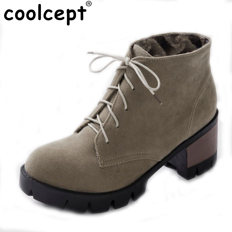 Spring autumn Women shoes Mid heels Ankle boots Knot Flower Pointed toe High quality Drop shipping Cute Size 34-43 egonery quality pointed toe ankle thick high heels womens boots spring autumn suede nubuck zipper ladies shoes plus size
