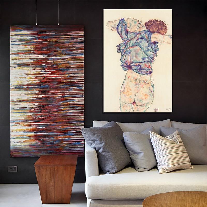 24 шт. Egon Schiele средства ухода за кожей цвет делимитации Эскиз Холст книги по искусству живопись плакат стены картину для гостиная