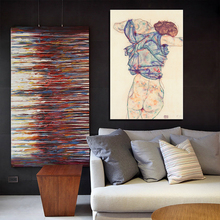 24 PCS Egon Schiele Body Color Delineation Sketch Canvas Art Painting Poster Wall Picture For Living Room Home Decor цена