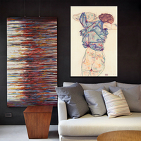 24 PCS Egon Schiele Body Color Delineation Sketch Canvas Art Painting Poster Wall Picture For Living Room Home Decor