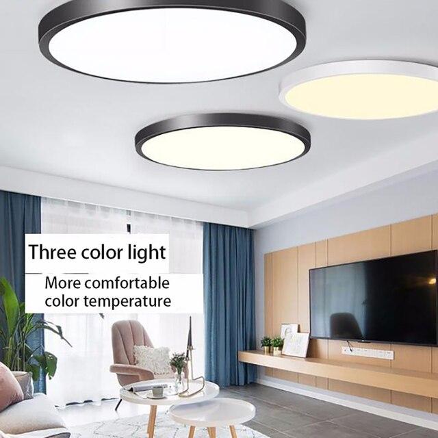 50W מודרני עמיד למים LED תקרת אור גן בחוץ מרפסת אמבטיה וילה מבואת תקרת אור לבית תאורה
