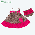 Summer Baby girl clothes 2pcs Sleeveless 1st birthday outfits newborn clothing Fashion Princess Lace leopard twins baby clothes