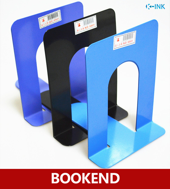 Durable Metal Book End Shelf Bookend Holder Home Office Bookshelf Bookends As