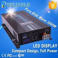 LED Display Reliable Solar Power Inverter 1500w Home Inverter 3000W Peak Off Grid Pure Sine Wave