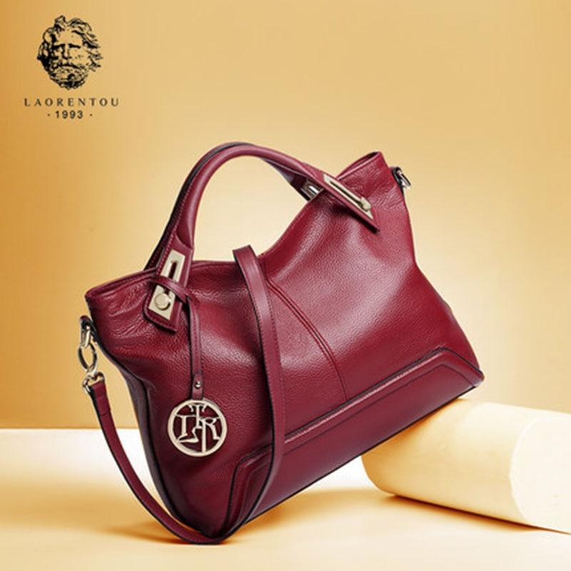 LAORENTOU Luxury Genuine Leather European Handbags Valentine s Day gift Women s Handbags Ladies Real Leather