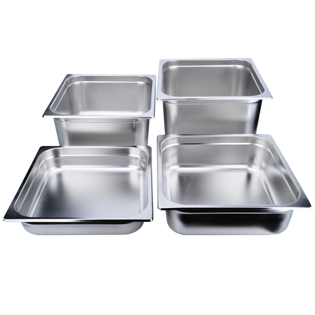 American Style Stainless Steel Kitchen Square Floe Plate Gastronom Pans Bread  Storage Box