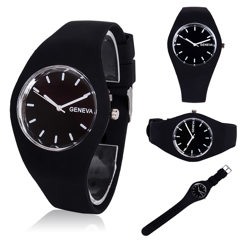 Unisex Candy Color Jelly Silicone Band Watch Men Women Fashion Casual Sports Quartz Wrist Watches For Girls Boys Relogio Clock