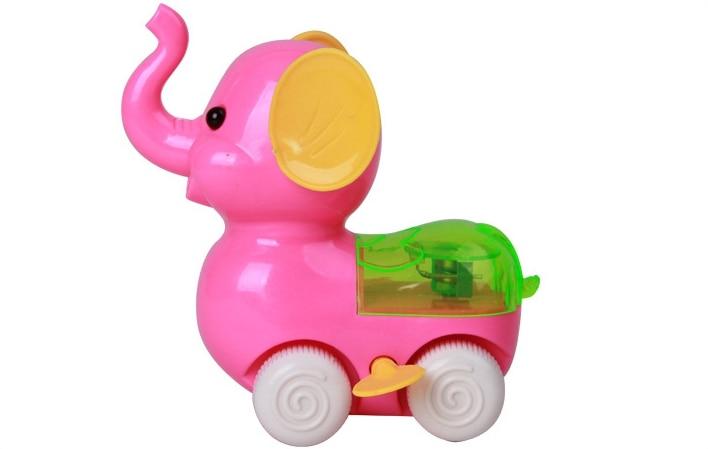 Pull Back Hot Spring Elephant Nostalgic Educational Toys Chain Baby Child Sounding Plastic Flashing Toy Boys Favorite Gifts