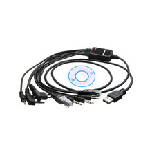 1 Set High Quality Computer USB Programming Cable 8 in 1 2019 for Handy Talkie Car Radio CD Software(China)