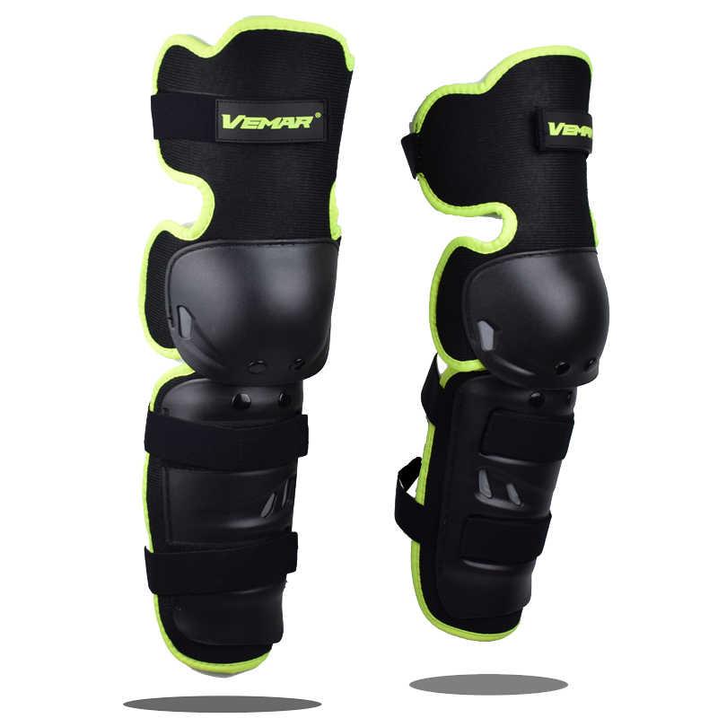 Vemar motocicleta armadura protetor protetor joelheiras off-road corrida crashproof à prova de vento respirável preto protetor rodilleras