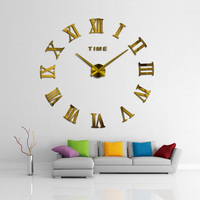 2019 New HomeDecoration Wall Clock Big Mirror Wall Clock Modern Design Large Size Wall Clocks DIY Wall Sticker Unique Gift 130