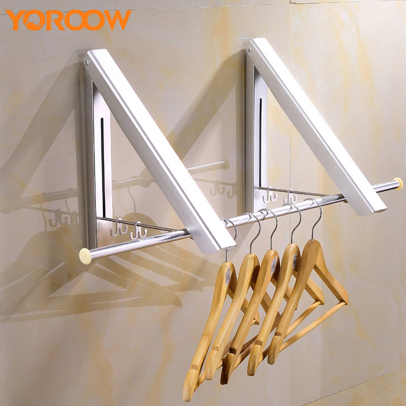 Coat Hook Clothes Holder Mount Wall Movable Towel Hanger Silver Metal Rack Nails Stainless Steel Aluminum Bathroom 2018 FJ0005 beili hqs g105830 handy suction cup pc stainless steel hook hanger white silver