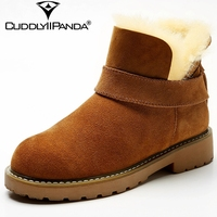 CuddlyIIPanda Winter New 100 Sheep Wool Snow Boots Fur Women Ankle Boots Top Quality Winter Boots