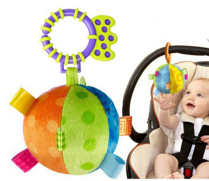 Baby Rattle Toys Ball Bed Baby Carriage Bells Infant Appease Toys Baby Gift Free Shipping