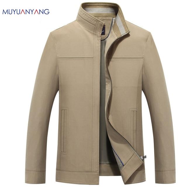 2017 New Styles Men Jacket Mandarin Collar Cotton Zipper Business Casual Cozy  Coats And Jackets Big Size Men Clothing 1d9897f67